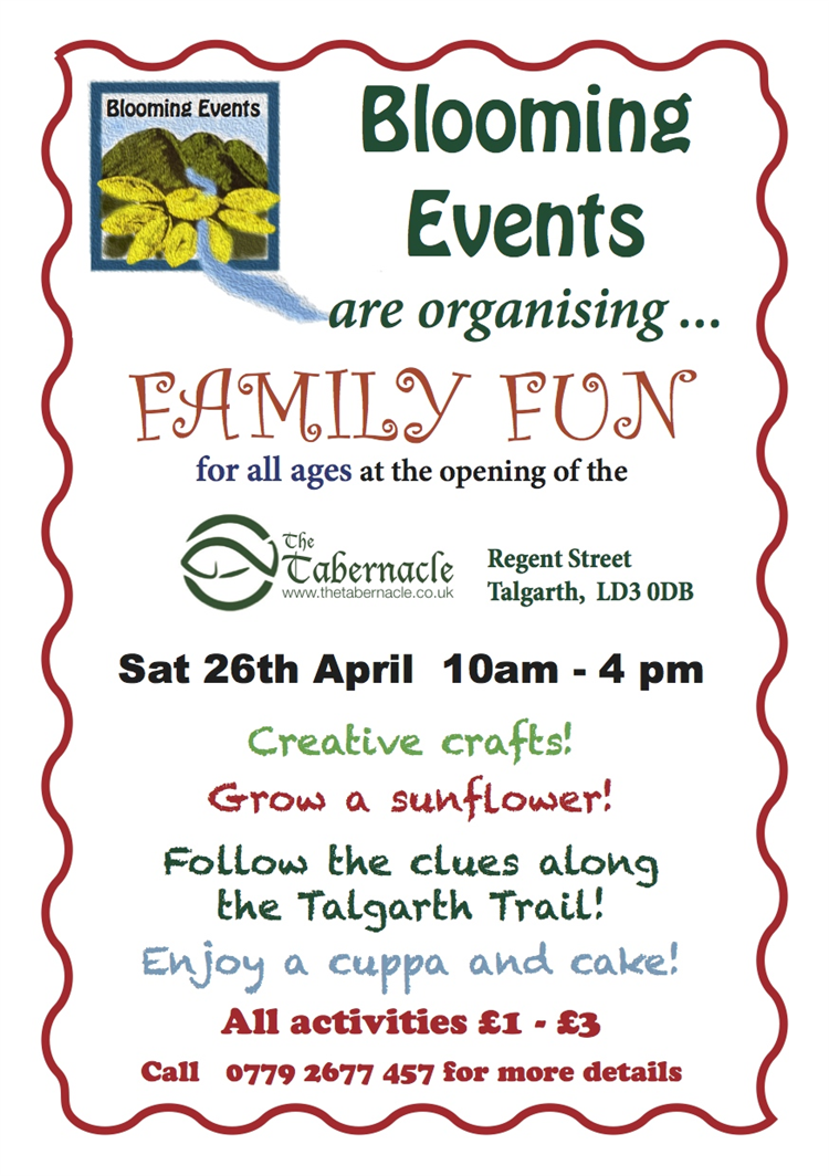 Family Craft Activities At The Tabernacle Talgarth
