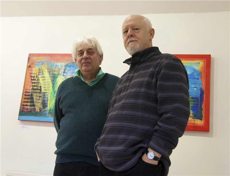 Local artists opened thier doors and shutters during Hay on Wye